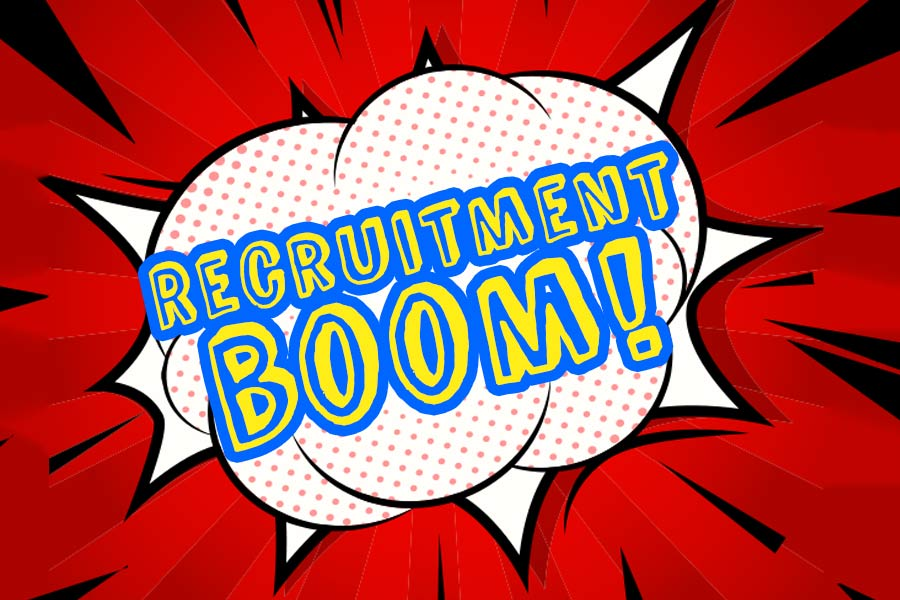 Recruitment boom: nearly 3,000 new firms this year alone