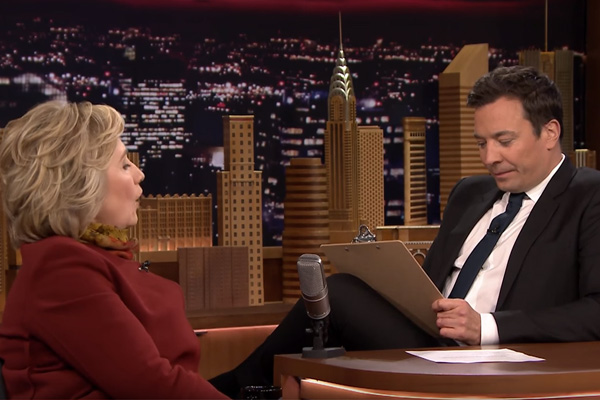 Jimmy Fallon conducts 2nd mock 'job interview' with Hillary Clinton