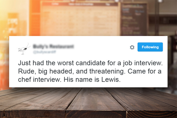 Hiring manager reveals 'worst candidate for job interview' on Twitter