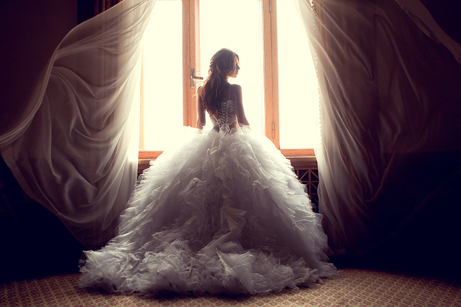 Why did Irish employees wear wedding dresses to work?